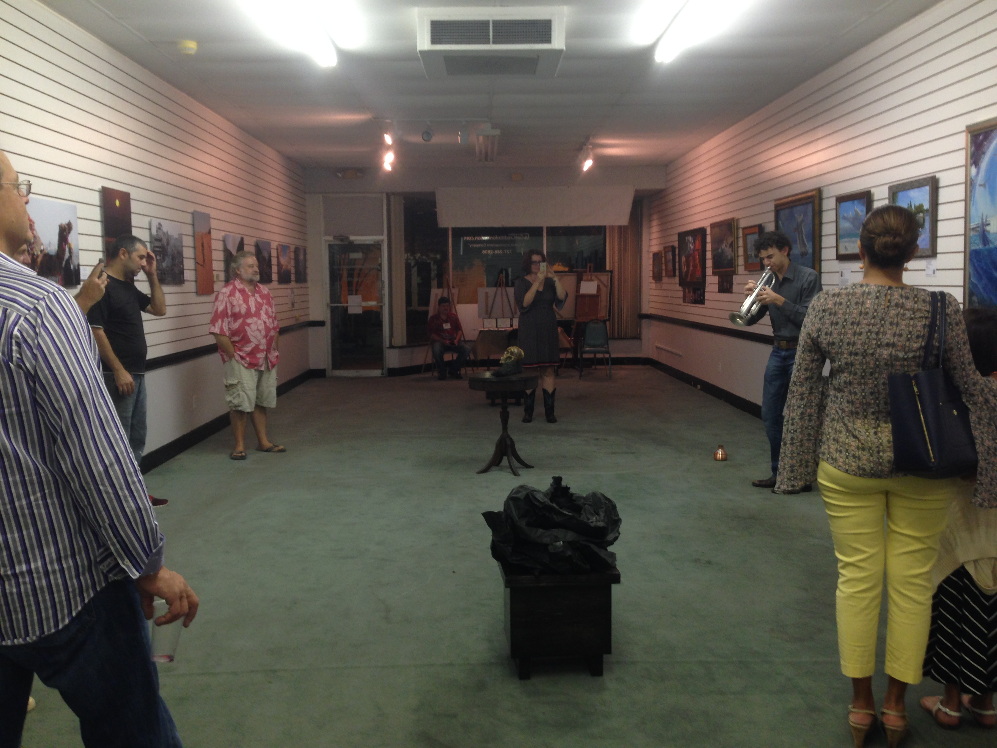Barbaro-Gould Exposed Elements art show with jazz